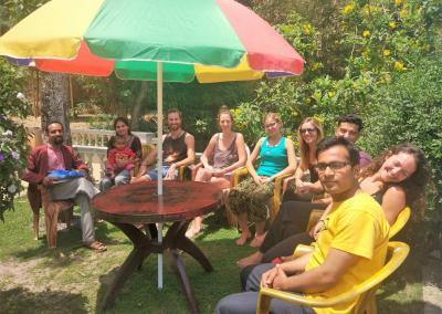 Yoga Students Farewell time at Nepal Yoga Home