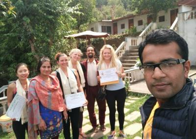 Yoga Home Nepal Students