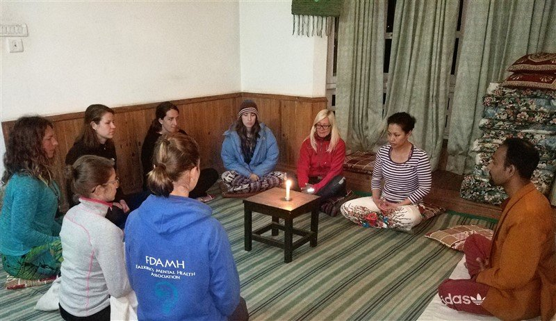 meditation in nepal-candel gaze tratak