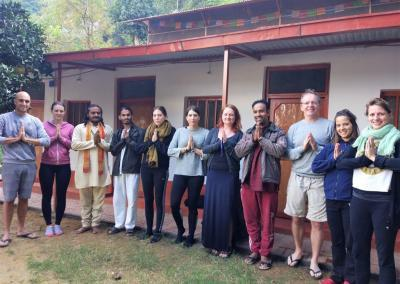 Students at Nepal yoga Home Cottage