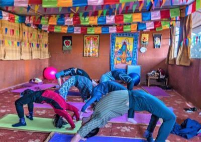 Yoga calss in Yoga Hall