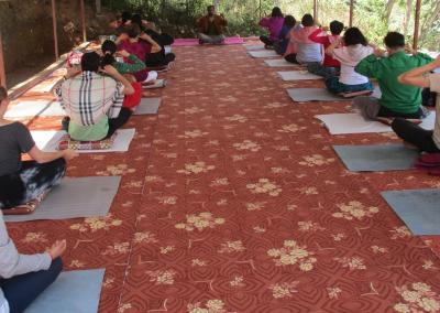 Yoga Class at Nepal Yoga Home