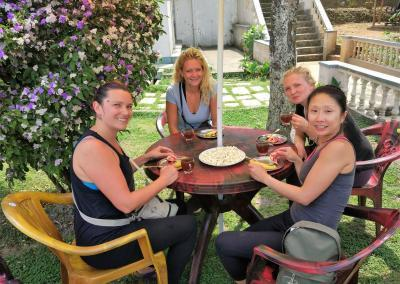 Yoga Lunch at Nepal Yoga Home