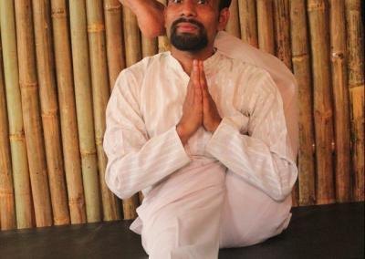 Ek-pad Girbasana Yoga Posture