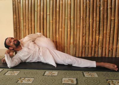 Karnapidasana Yoga Posture