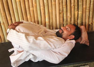 Supta Garvasana Yoga Posture