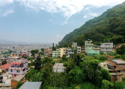 City-jungle view from Nepal Yoga Home
