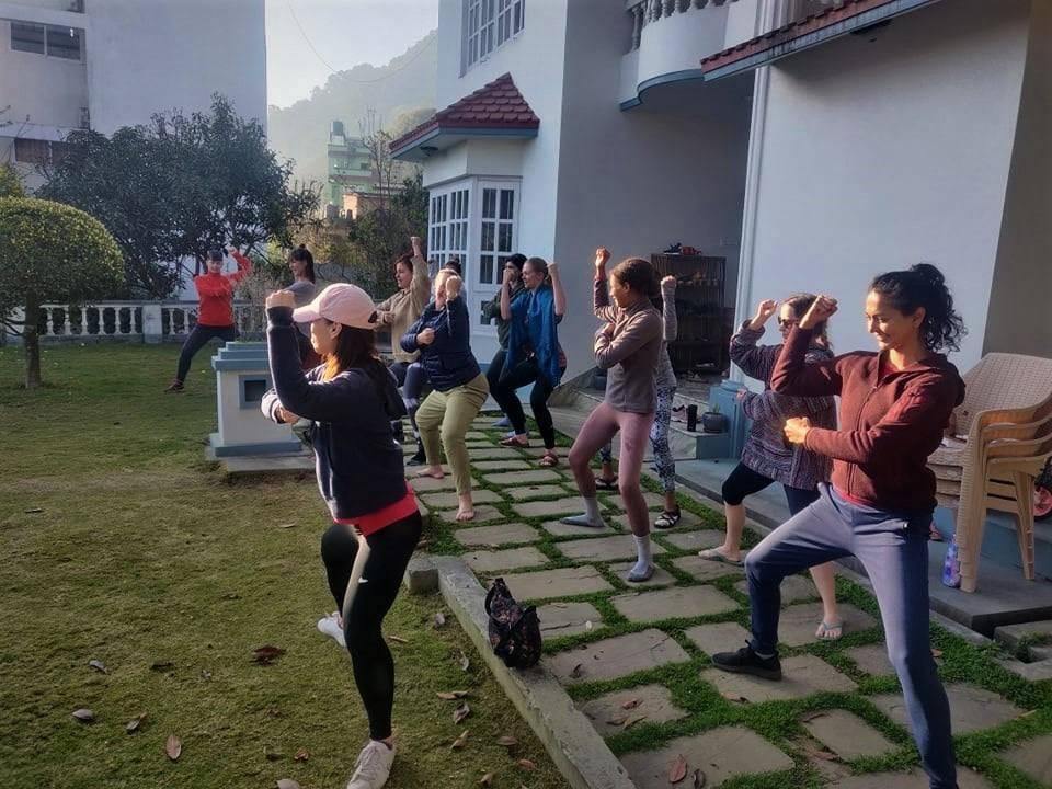 online yoga class in Nepal