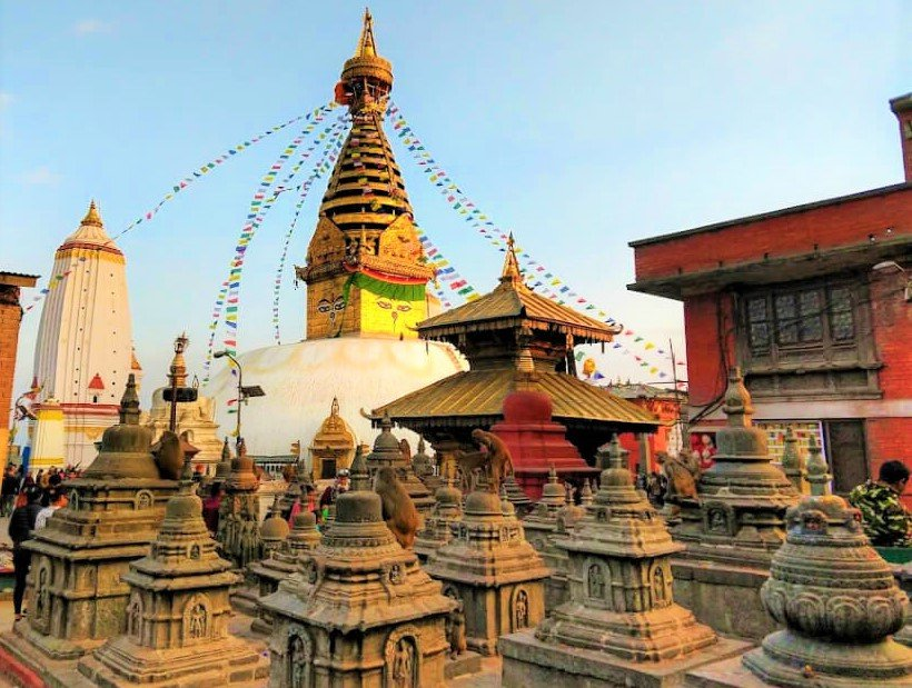 swambhunath- yoga tour in nepal