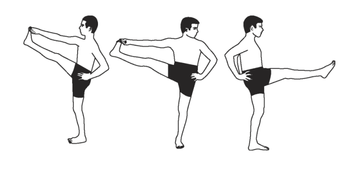 extended hand to big toe pose -less popular
