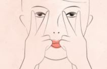 double v- face yoga exercise